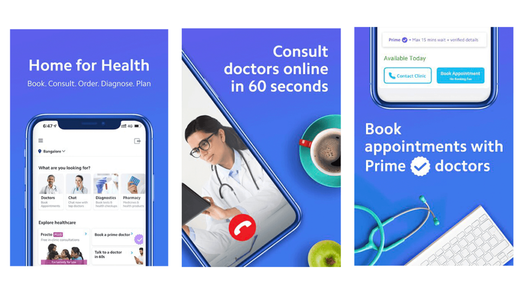 Practo-Best Pharmacy Apps for Android and iOS in 2020