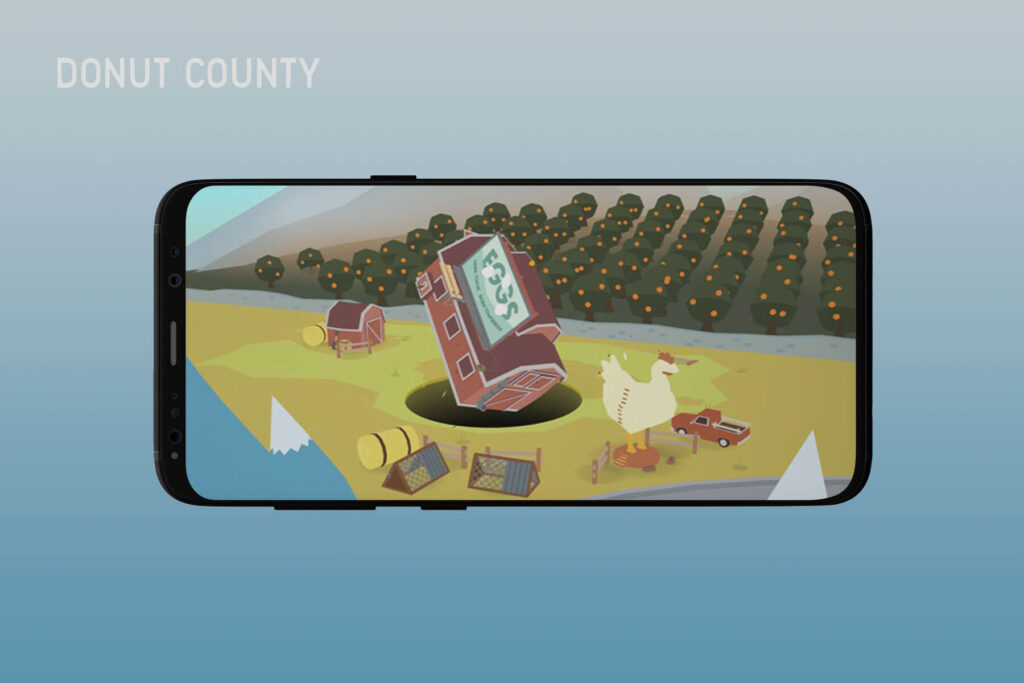 Donut County- Top 13 Best iPhone Games of 2020