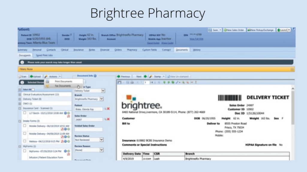 Brightree Pharmacy- 10 Best Pharmacy Software For Improved Medical Practices