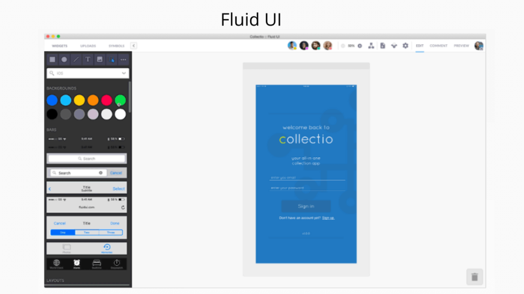 Fluid UI- Best Mobile App UI Design Tools