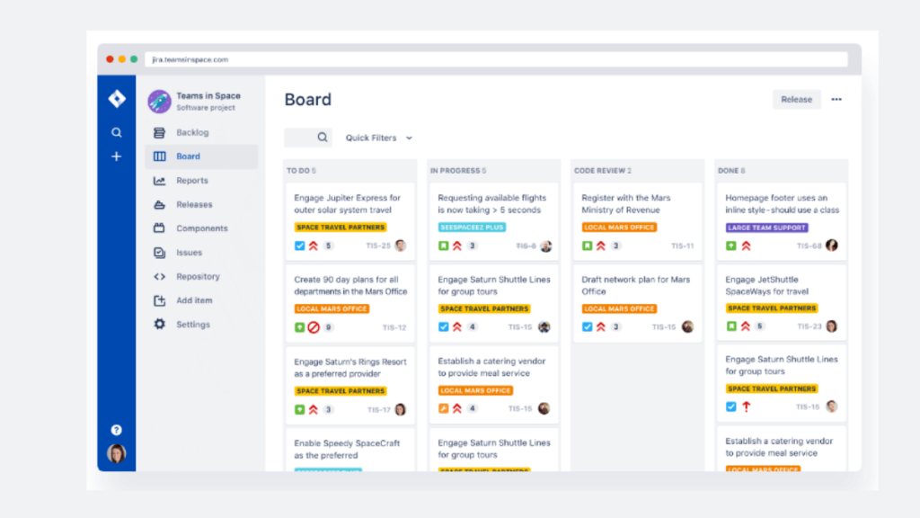 JIRA- 10 Best Mobile App Development Tools