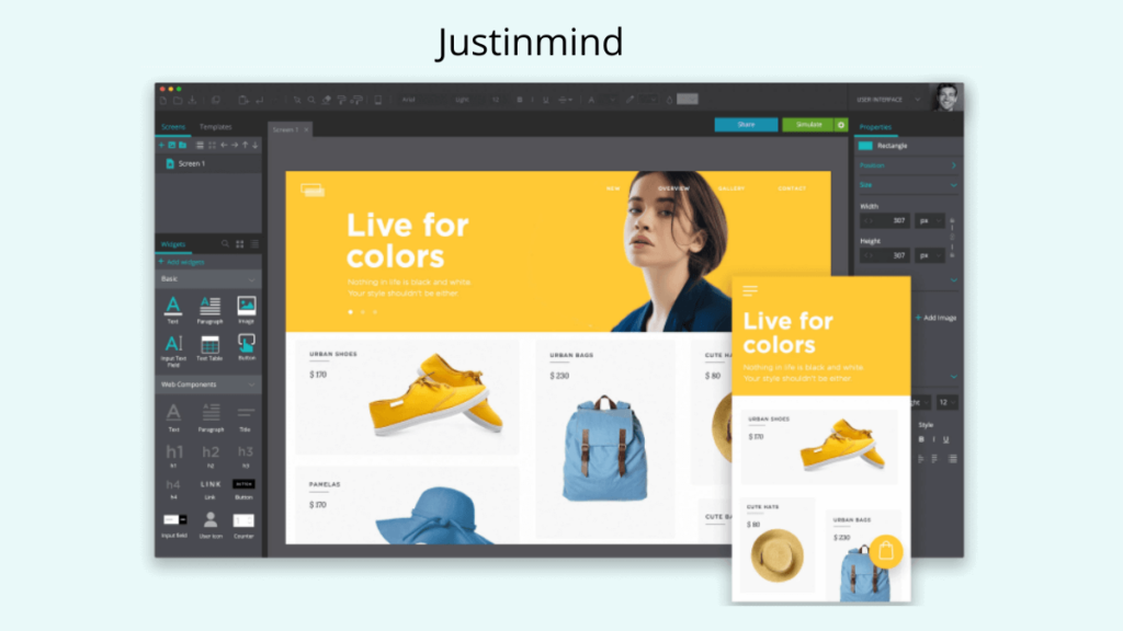Justinmind- Best Mobile App UI Design Tools
