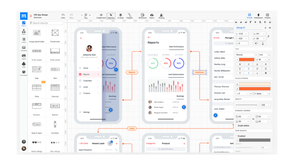 Moqups- Best Free Wireframe Tools For Mobile App