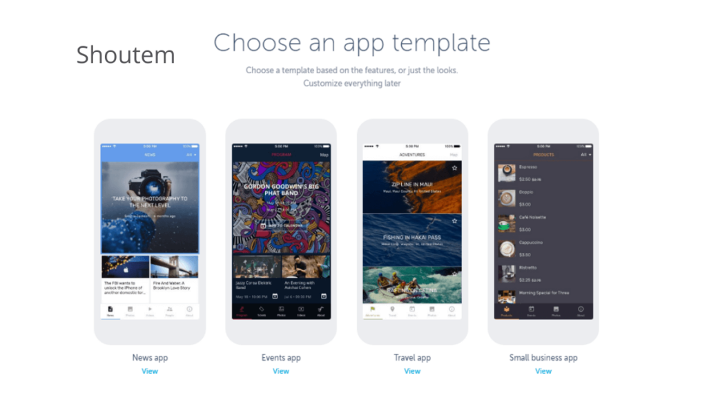 Shoutem- 10 Best Mobile App Development Tools