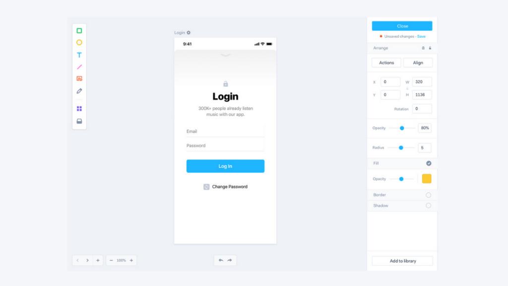 Marvel App- Best Free Wireframe Tools For Mobile App