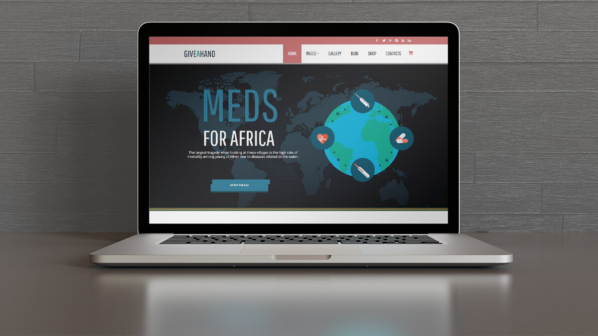 Give a Hand- Best WordPress Theme For Charity And NGO Websites