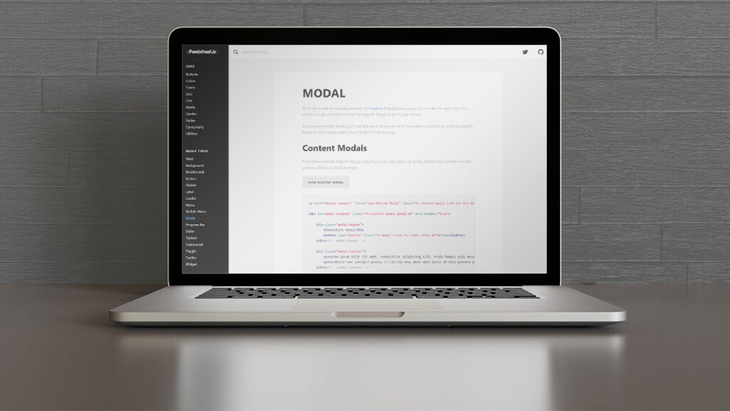 Modal- Best Frontend Development Tools