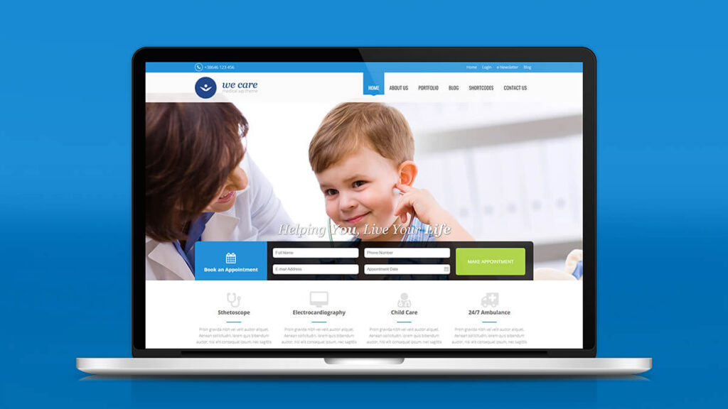 We Care- Best WordPress Theme For Medical Agency