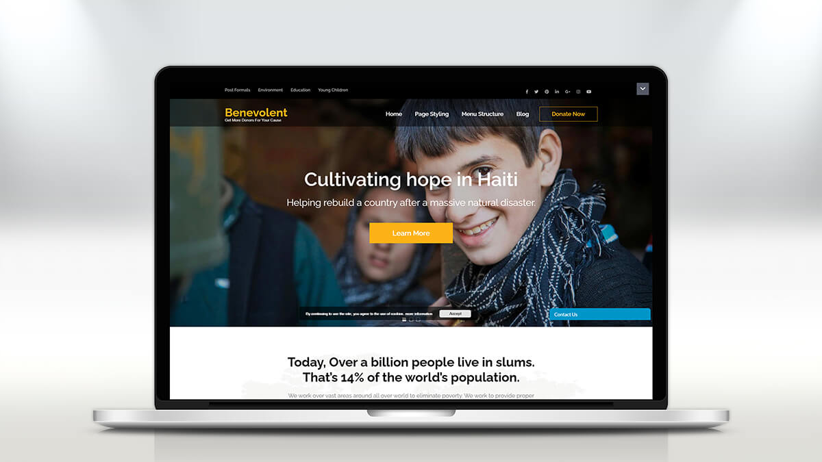 Benevolence- Best WordPress Theme For Charity And NGO Websites