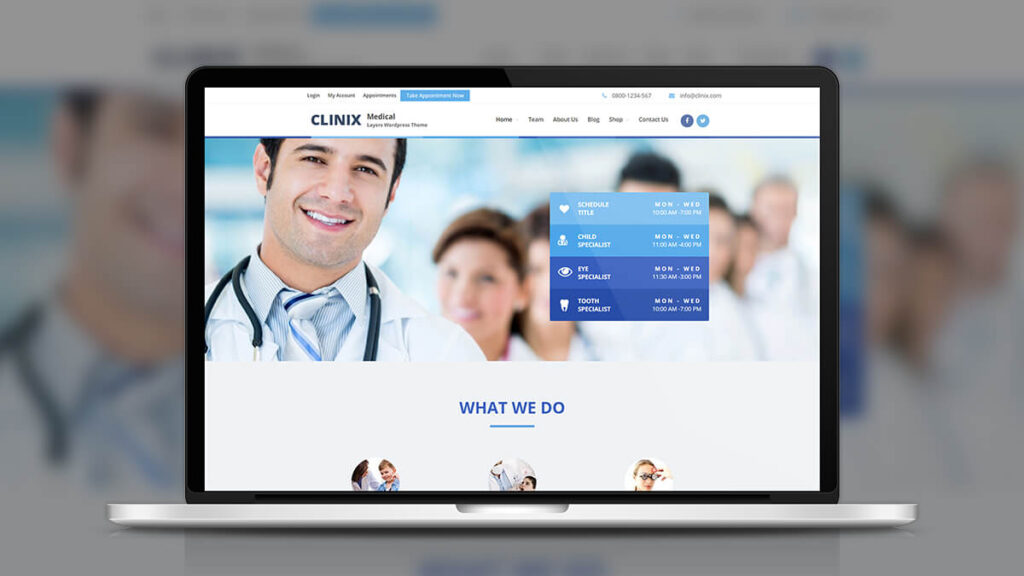 Clinix- Best WordPress Theme For Medical Agency